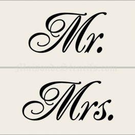 mr & mrs stencil   Home > Wedding > Mr. and Mrs. Stencils