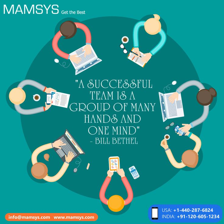 """""""A successful team is a group of many hands and one mind""""  #Teamwork #Teammember #leadership #quotes #quote #collaboration #image"""