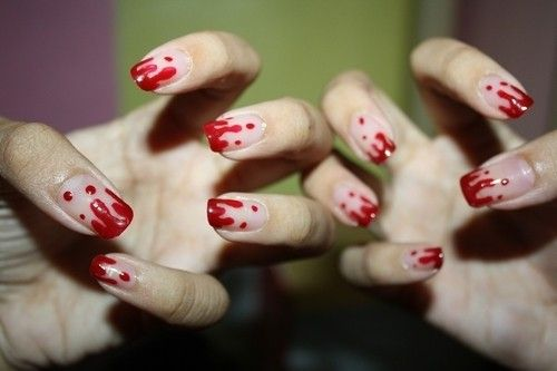 Tamed Raven: 10 Halloween Nail Ideas and Text How-to.