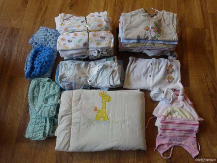 Krásné letní oblečení + výbavička pro miminko vel. 62 (0-3 měsíce) za 150 Kč | Detskybazar.cz