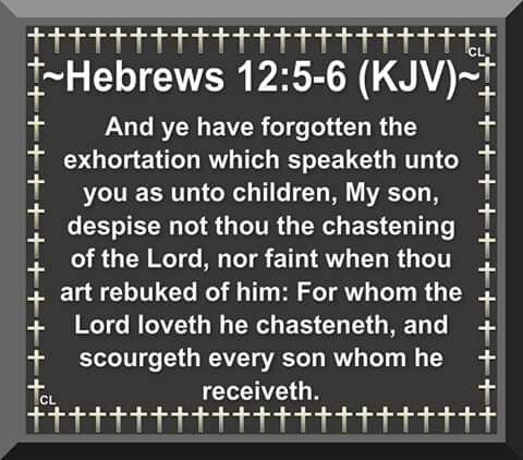 Hebrews 12:5-6 * From Job 5:17 Behold, happy is the man ...