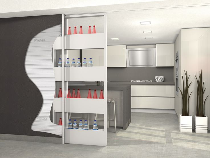 Bigfoot® Linear Openspace, is the storage pocket frame that combines functionality and design. The superior track is completely built-in inside the false ceiling and door post has been eliminated. You can have a bookcase or a store cupboard or an utility room that slides and disappears inside the wall when it is closed. It is possible to choose a single or double doorway in double version