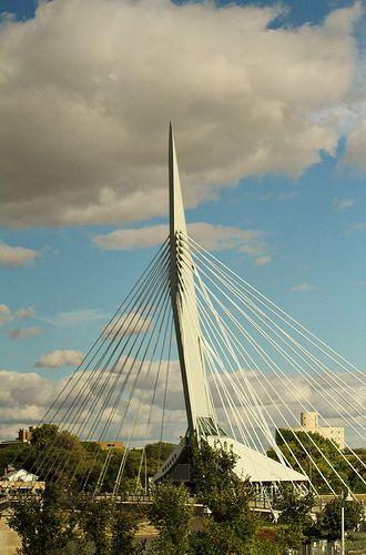 Winnipeg Bridge with Clouds,Winnipeg,Canada