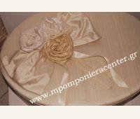 Σετ βάπτισης  σουα σοβάζ (ολομέταξο) με τριαντάφυλλα