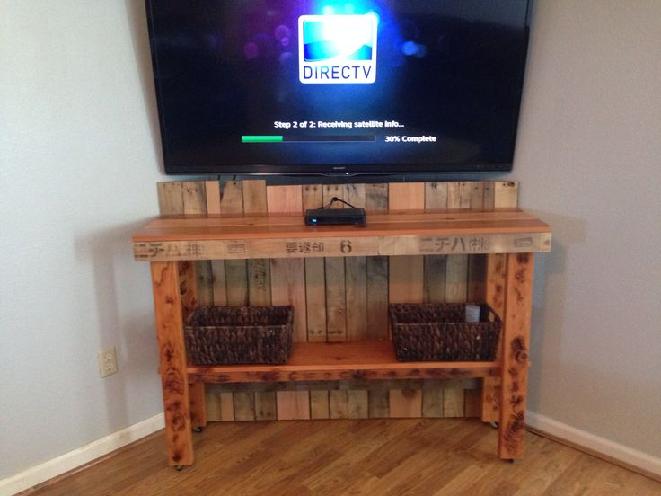 Corner TV Table to hide wires