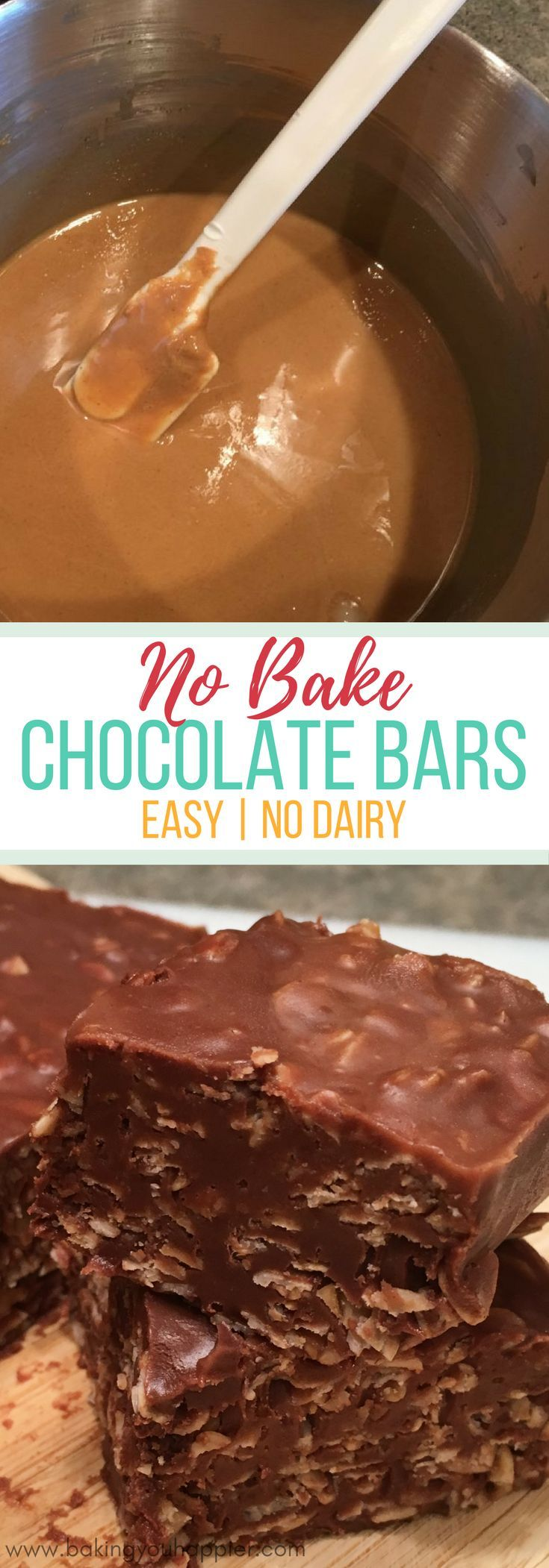 No Bake Vegan Chocolate Bars, these take 10 minutes or less from start to fridge! These vegan chocolate bars are so easy to make and taste delicious!
