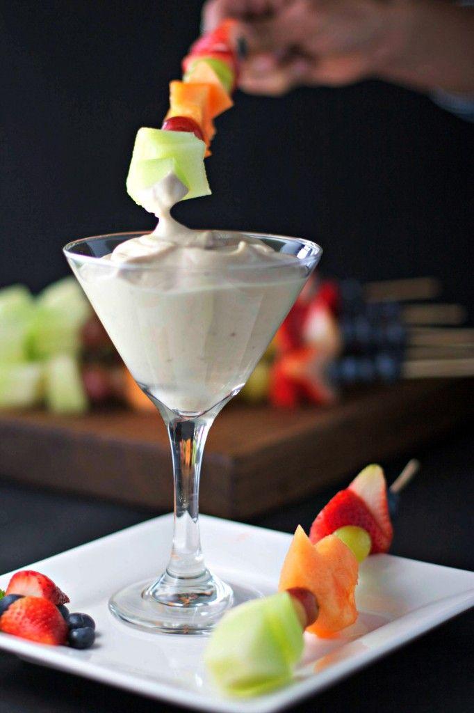 fruit kabobs with vanilla dip ~vegan~ - BeginWithin Nutrition