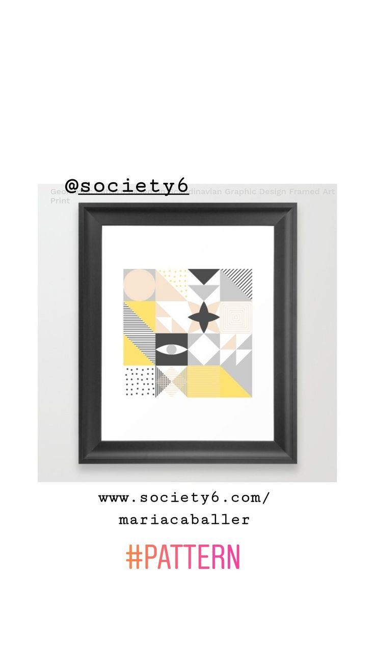 Pattern based in scandinavian graphic design in @society6 #art #design #pattern #eye #geometry #decor