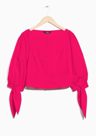 & Other Stories | Knotted Cuff Blouse
