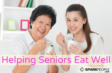 Use these ideas to help your elderly loved ones maintain good nutrition as they age. via @SparkPeople