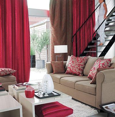 Superbe couleur Rouge Framboise Riche en texture