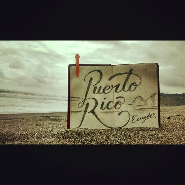 The lonely beach of Puerto Rico