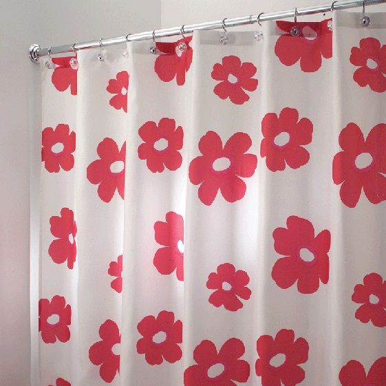 17 best images about colorful shower curtains on pinterest for Bright coloured bathroom accessories