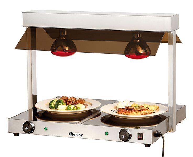 Θερμαντικά χατκον για πατάτες και φαγητά με δυο κεραμικές εστίες και λάμπες. Εξοπλισμός μαζικής εστίασης