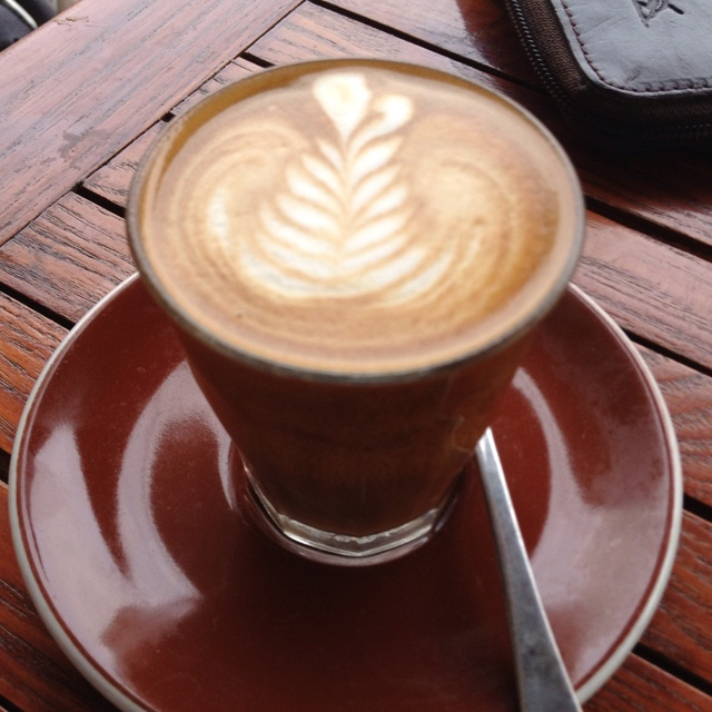 Soy piccolo from cafe in Sydney. Mmmm