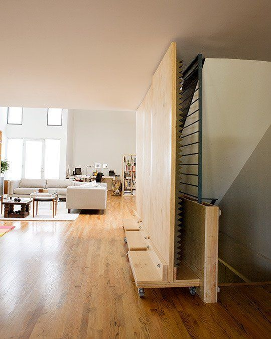 Paola and Steve's Light-Filled Modern Home - Movable Panels with Acoustical Foam