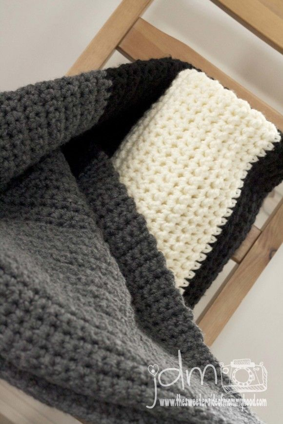 Beginner Crochet Patterns For Blankets : My husband would love this. Super easy fast beginner ...