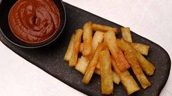 Triple Cooked Chips with BBQ Sauce
