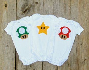 Mushroom Baby Clothes / Video Game Gift Pack