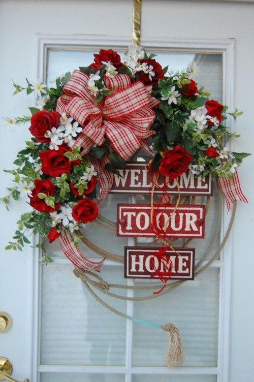 Home Decor: 25 Christmas Wreath Ideas Messagenote.com Wreaths for Front Door