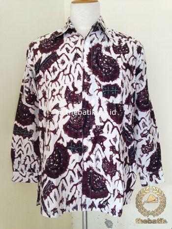 Kemeja Batik Tulis Motif Semen Romo Latar Putih | #Indonesia Unique  #Batik Tops Shirt #Clothing Men Women http://thebatik.co.id/baju-batik/