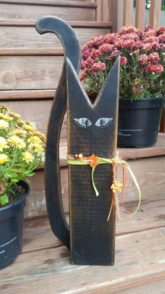4 Hexen Halloweendeko Herbstdeko Set Handarbeit