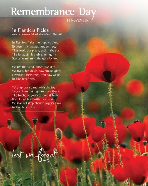 Remembrance Day 2015 To all our past present & future Troops thank you for the freedom we have as Australians