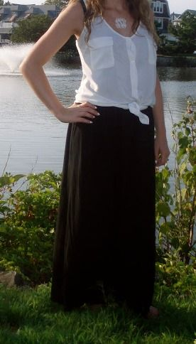 Black maxi skirt outfit