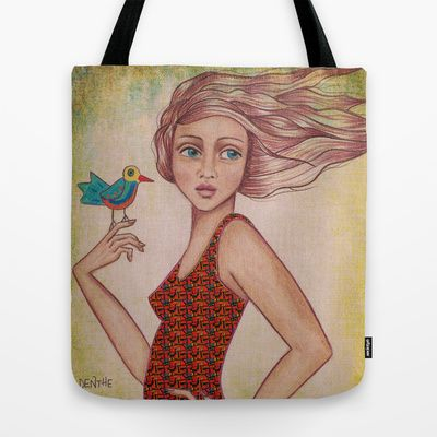 Some birds are not meant to be caged #Tote Bag by #denthe - $22.00