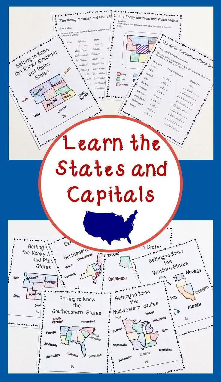 50 States and Capitals Lessons and Activities States