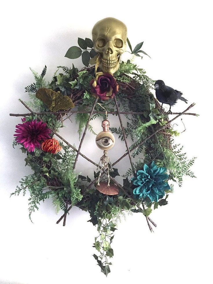 Image Result For Pagan Wreath Knickknacks Witchy Decor Wiccan
