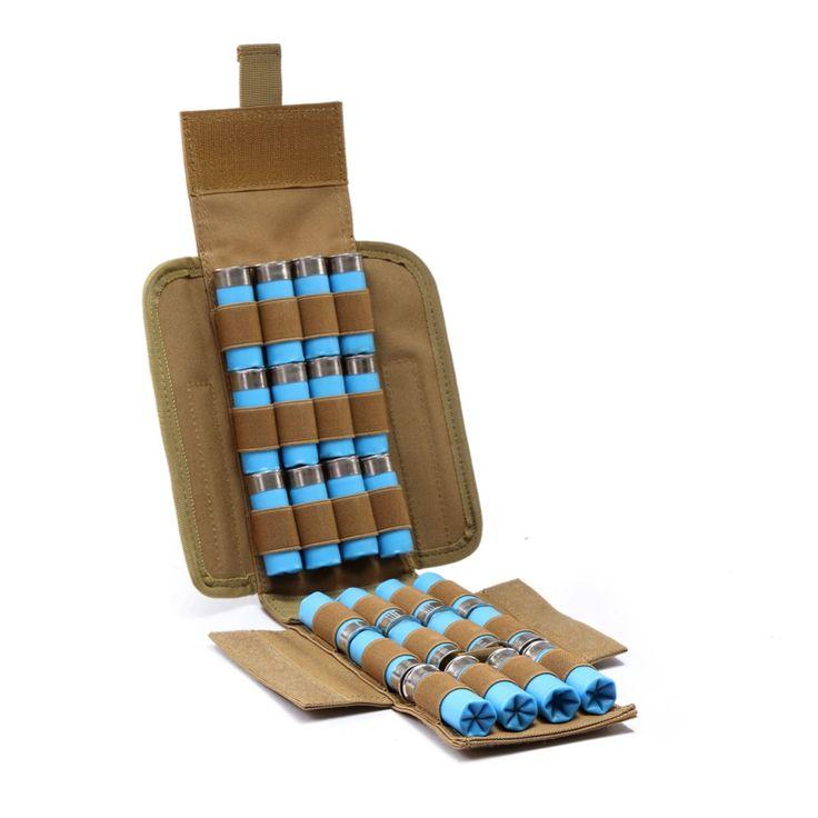 Hunting Ammo bag Molle 25 Round 12GA 12 Gauge Ammo Shells Shotgun Reload Magazine Pouches Magazine Bag