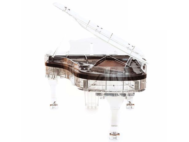 This Full Crystal Grand Piano features a full acrylic structure, making it produces only pure, spellbinding sparking sound.