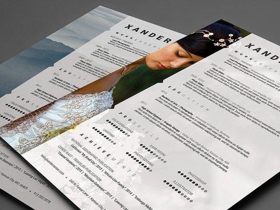 Photographer Resume Template Photoshop PSD Instant Download Designer CV
