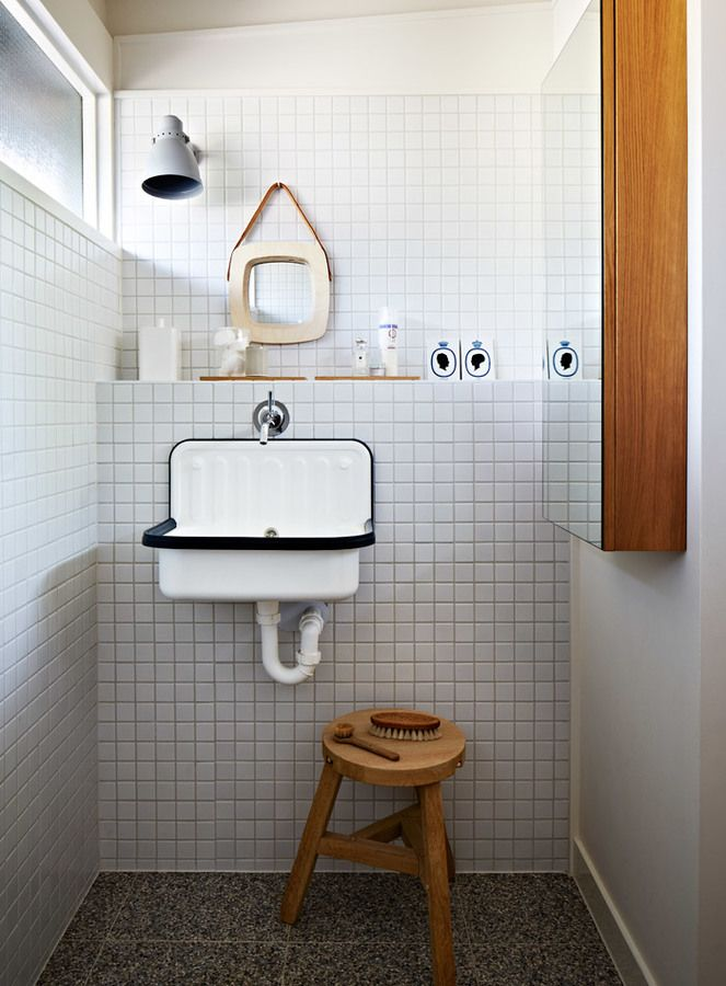 Litet badrum med designklassiker | Badrumsdrömmar