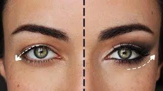 eye makeup droopy eyes - YouTube