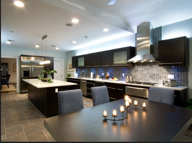 huge ultra modern kitchen looks like it would match our game room - Modern Kitchen Looks