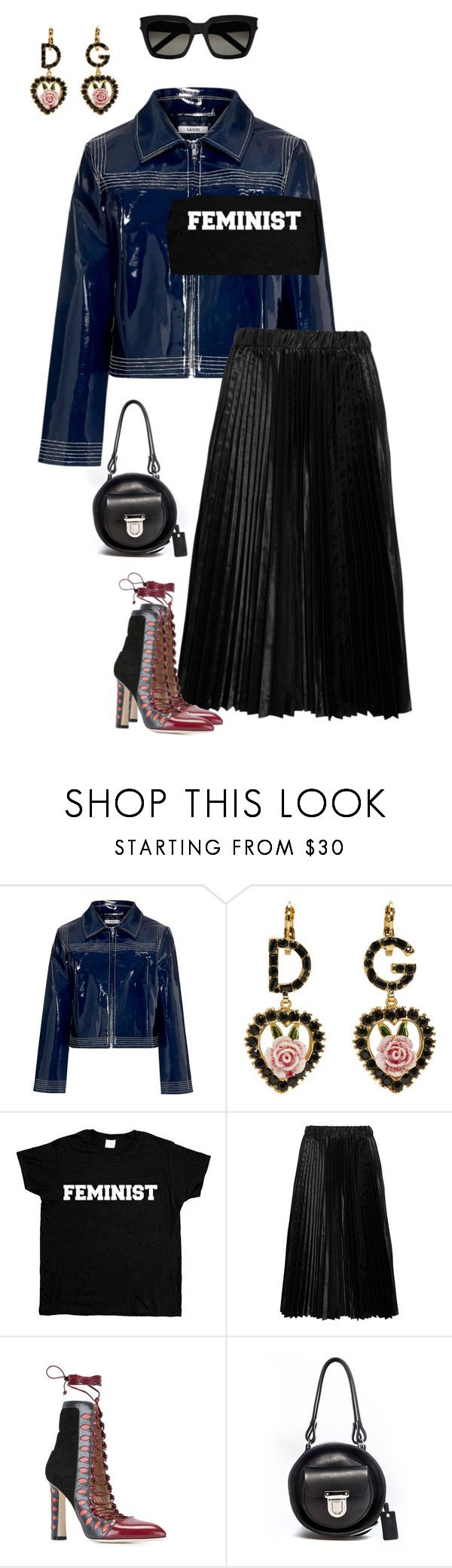"""Feminist"" by njlindo on Polyvore featuring Ganni, Dolce&Gabbana, Comme des Garçons GIRL, Paula Cademartori, Alisa Smirnova and Yves Saint Laurent"