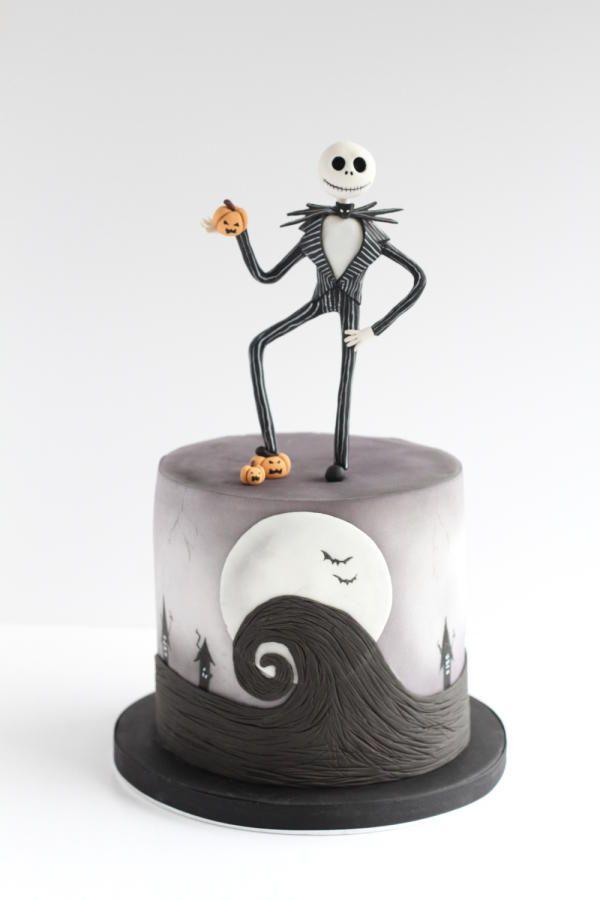 Nightmare Before Christmas Halloween cake  by Beckys Blooming Bakery