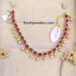 Ruby Beads and South Sea Pearls Necklace photo