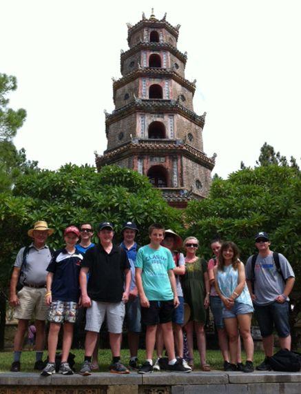 Thien Mu Pagoda - the famous ancient pagoda of Vietnam. #VietnamSchoolTours #VietNam