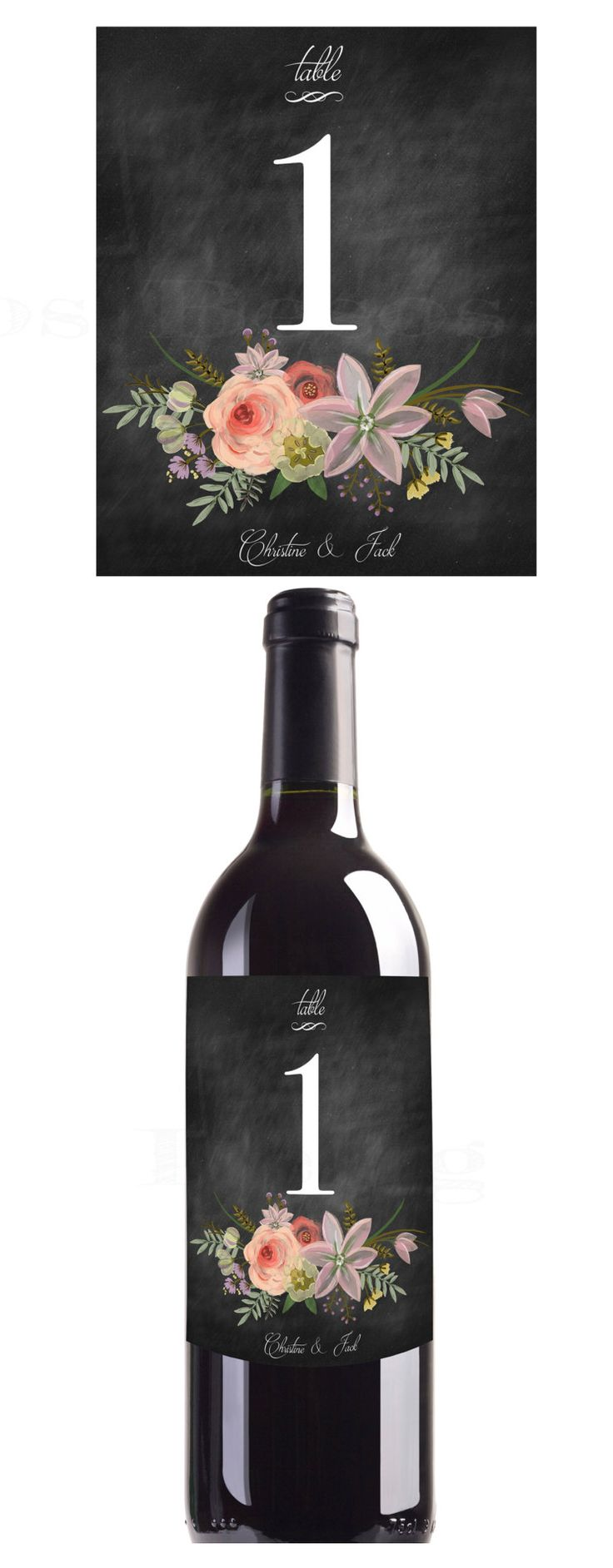 use your favorite wine as a #tablenumber at your #vineyardwedding