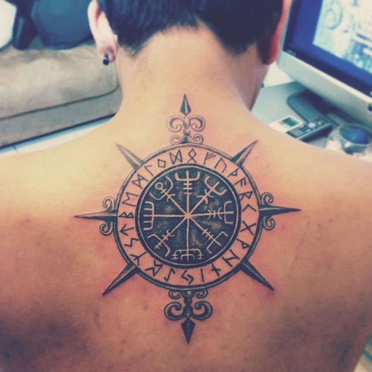 """Vegvisir"" tattooed by : Noel Montejo Place: Dubai United Arab Emirates"