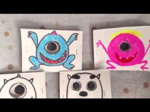 目玉が動くモンスターカード | ミックスじゅーちゅ 子どもの遊びポータルサイト