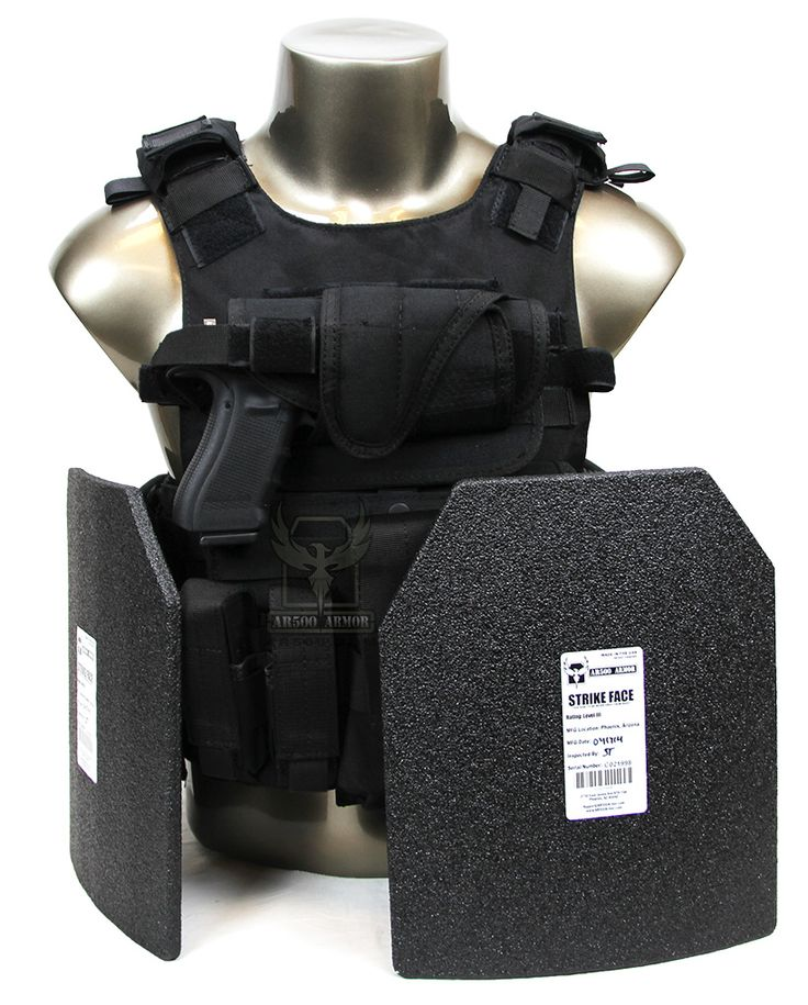 AR500 Armor® Quick Release Carrier Package with Body Armor - BK