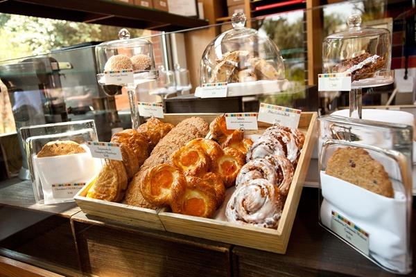 Pastry display at the CIA Bakery Café in San Antonio, TX.