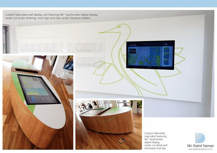 DIGITAL SIGNAGE SHOWCASE ON PINTEREST: SIGNAGE SHOWCASE ON PINTEREST: Showcasing the wall and map table digital displays at Satterley Heron Park
