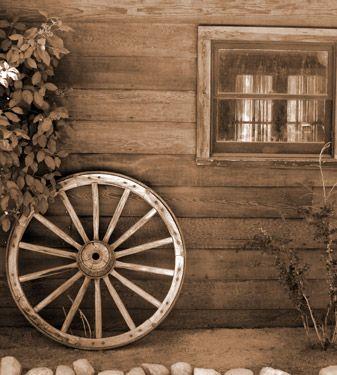Παλιός ξύλινος τροχός | Vintage