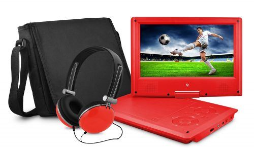 Ematic EPD909RD Swivel Portable DVD Player
