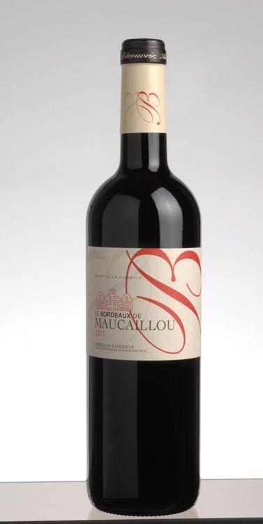 Le Bordeaux de Maucaillou 2012 (bouteille à 0,75l ). BORDEAUX SUPÉRIEUR AOC 2012